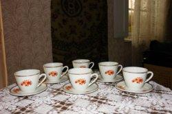Ritka Zsolnay aranyozott szélű teás - cappuccinos készlet