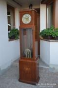 Antik negyedütős, 3 súlyos álló óra-Gustav Becker?