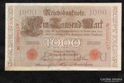 1000 Márka 1910  Piros sorszám