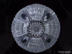 Kristály, nagyon szépen metszett kaviárkínáló tálka