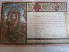 Szerzetes fogadalom Szent Ferenc Rend Budapest . 1910