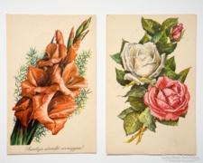 Retro virágos képeslap gyűjtemény 2db