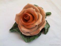 Régi jelzett porcelán rózsa