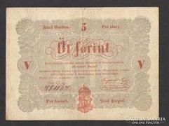 5 forint 1848. (VF++)!!!  NAGYON SZÉP!!!