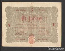 5 forint 1848. (VF++)!!!  SÖTÉTEBB NYOMAT!!!  NAGYON SZÉP!!!