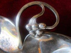 SZECESSZIÓS ezüstözött kínáló szöllő WMF jelzett BÉCS WIEN