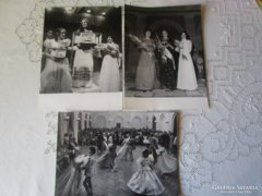 1972 BALATONFÜRED Anna bál sajtó fotó 3 db jelzett