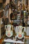 Német majolika asztali lámpák
