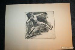Ősz Dénes: Súlylökő rézkarc
