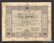 10 forint 1848.  VF!!   SZÉP BANKJEGY!!