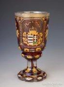 Biedermeier címeres pohár