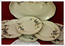 """Zsolnay sültes tányérkészlet,  """"Búzavirágos"""""""