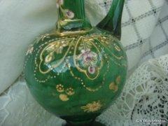 Zöld,fújt üveg karaffa