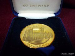 Canterbury Cathedral 22ct gold plated