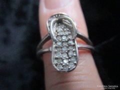 Nagyon régi ezüst gyűrű Belső átméret : 17 mm
