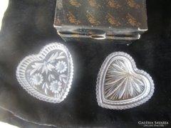 Rendkivüli AJKA kristály szív páros eredeti doboz