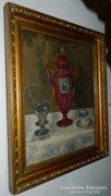 Bieder asztali csendélet - olaj/vászon festmény