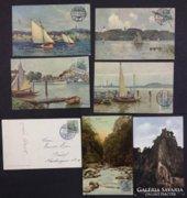 6 db képeslap a német századelőből.
