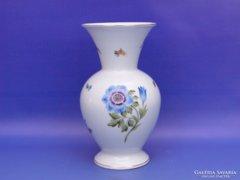 0C950 Régi virágos gyümölcsös herendi váza 20,5 cm