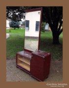 Art deco tükrös,fésülködő szekrény