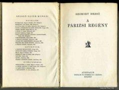 Szomory Dezső: A párizsi regény (Atheneum) könyv