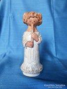 Antalfiné Szente Katalin jelzett figurás kerámia szobor