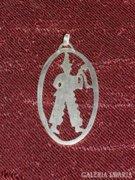 Régi ezüst medál 02