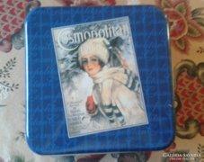 Cosmopolitan kék fém doboz, téli motívummal