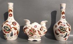 Antik perzsa mintás porcelán vázák 3 db.