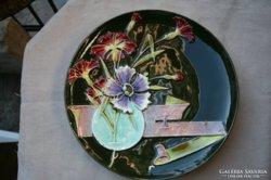 Szecesssziós majolika tányér