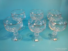 BOHEMIA kristály pohár készlet poharak