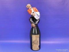 0C718 Antik art deco pezsgőnyitó kerámia