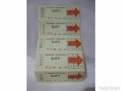 X172 Retro vonaljegy buszjegy sorozat tömb 5db