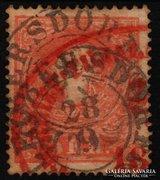 1858.  5Kr dupla bélyegzés-LEOBERSDORF+ Recommandirt piros.