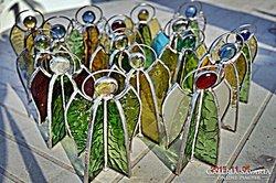 Tiffany Angyal eredeti színes Tiffany üvegből. Olcsón! (Nagy