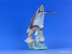 0D166 Régi herendi porcelán vörösbegy