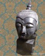 Régi egzóta fa Buddha szobor 38 cm
