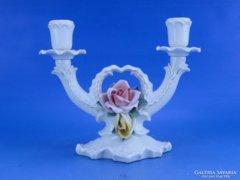 0C714 Régi ENS porcelán gyertyatartó