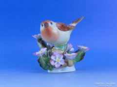 0B794 Régi Herendi madár virágok között