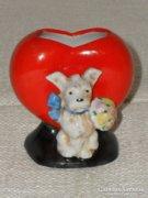 Figurás, szívecskés kis váza 02  ( DBZ0055 )