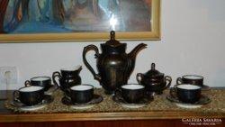 Antik bavaria dekor feinsilver teás / kávés készlet- ezüsttel bevont készlet