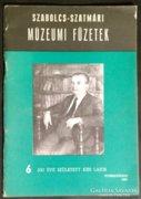 Szabolcs Szatmári múzeumi füzetek 6.