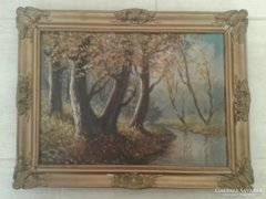 Tájkép ismeretlen festőtől. 48x37cm