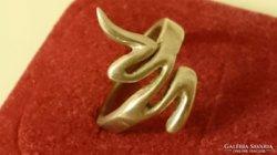 Ezüst különleges formájú gyűrű