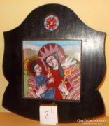 STEFANIAY EDIT tűzzománc kép - A szent család