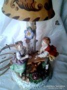 Antik figurális asztali lámpa