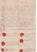 1817. Szignettás, viaszpecsétes dokumentum. RITKA!