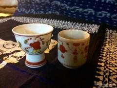 Két Meseszép Japán Kézi Festésű Szakes Pohárka