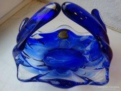 Lux Glass üveg kínálótál, jelzett