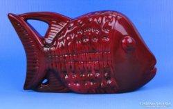 0D216 Ökörvérmázas Zsolnay eozin porcelán hal